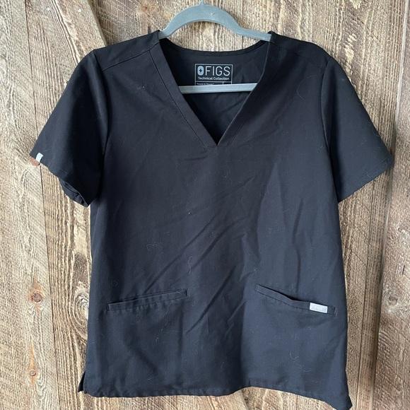 Women's Black Casma - Three-Pocket Scrub Top